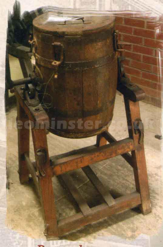 Butter churn at Leominster Museum