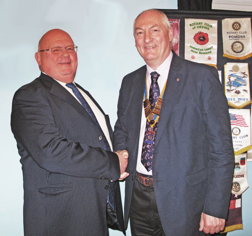 President Andrew Parsons inducts Ian Wilkinson