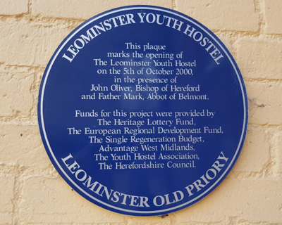 YHA Leominster Plaque